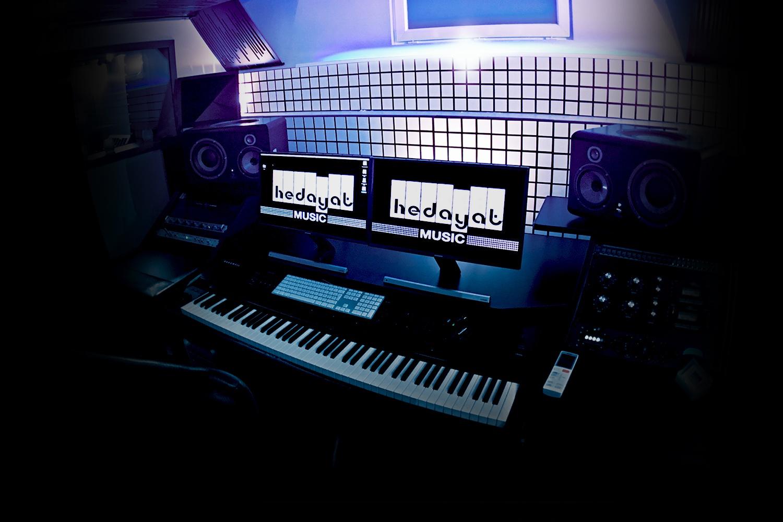 Console de mixage du studio Hedayat Music