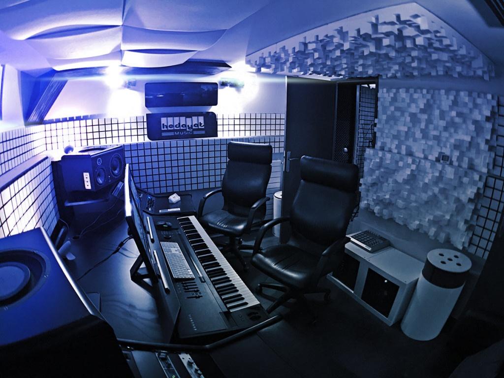 Salle de composition et d'arrangement musical