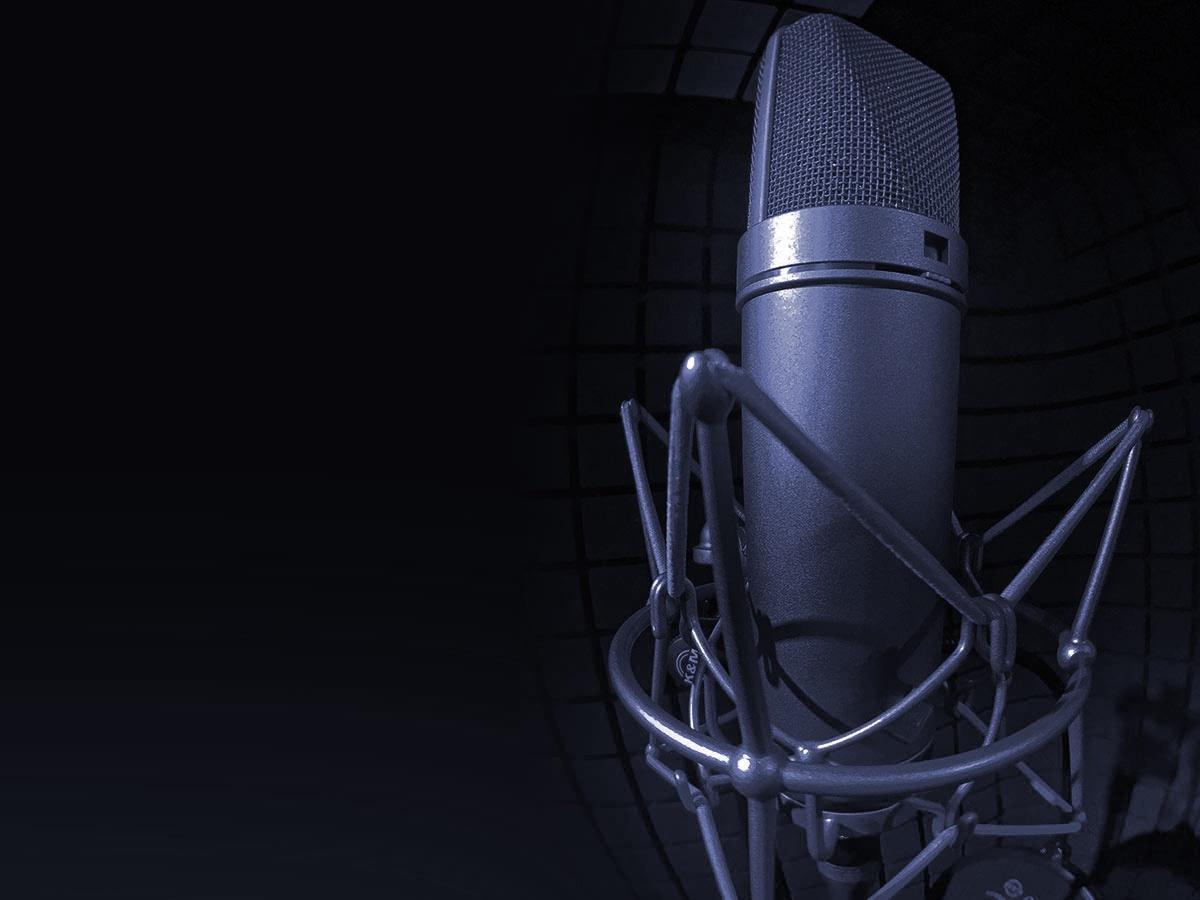 Micro professionnel de la cabine de prise de voix