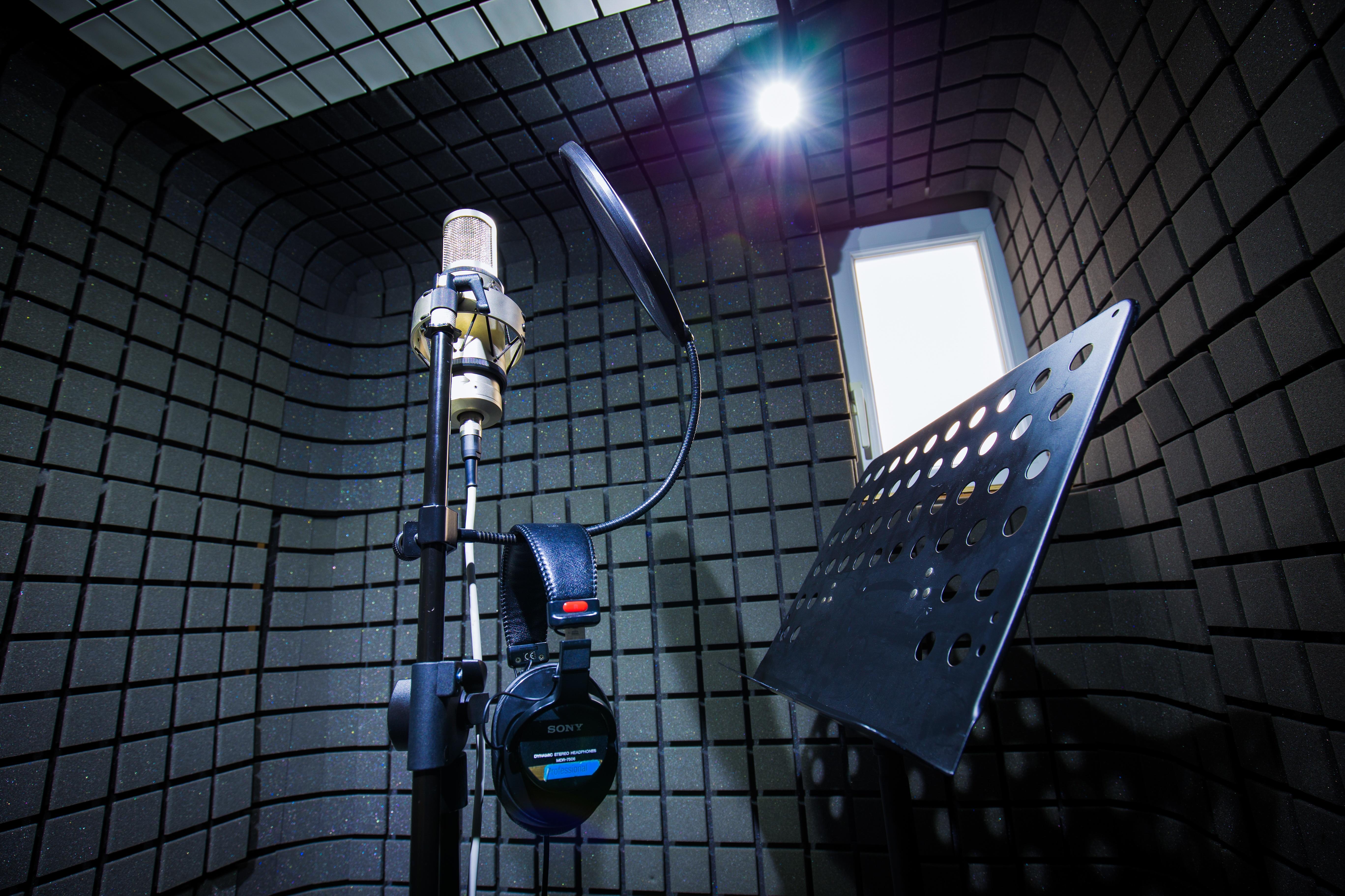 La cabine de prise de voix